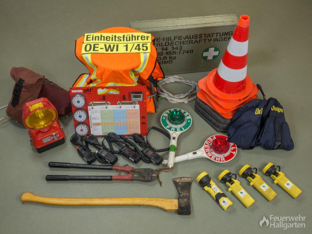 Fahrzeugkabine LF 16 Ausrüstung