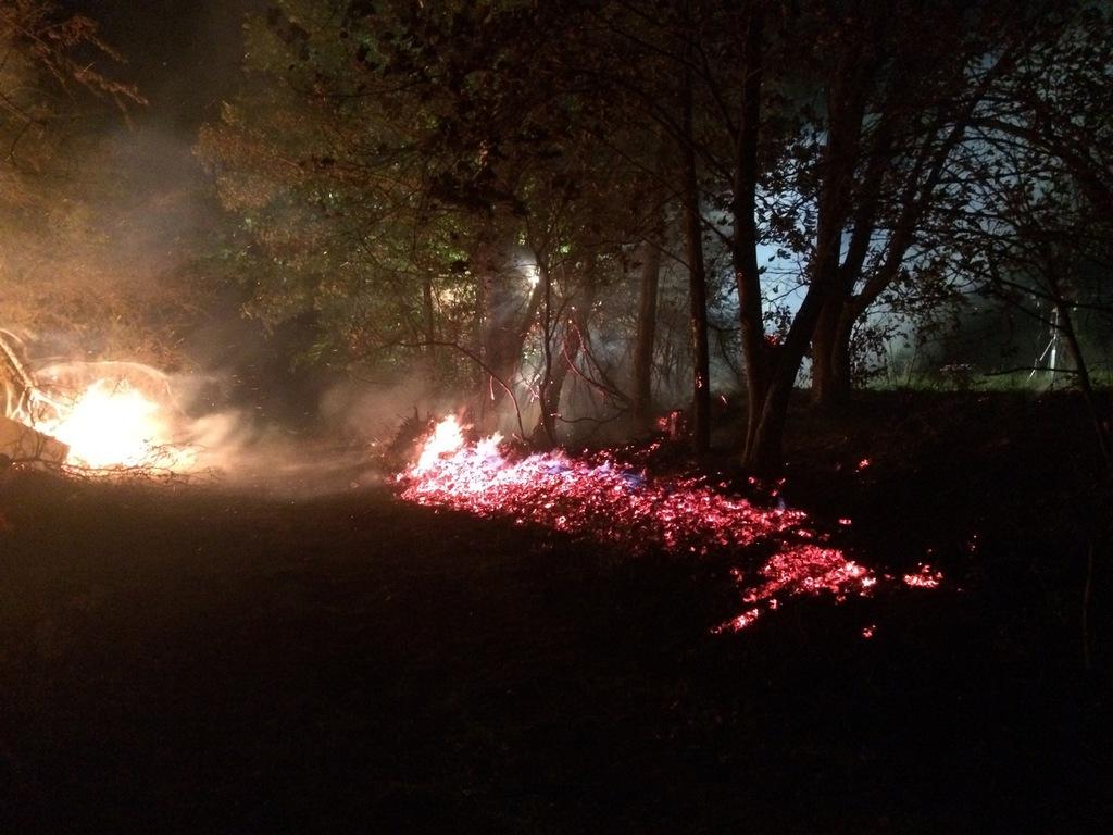 Gefahr eines sich ausbreitenden Brandes