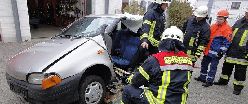 Übung Verkehrsunfall