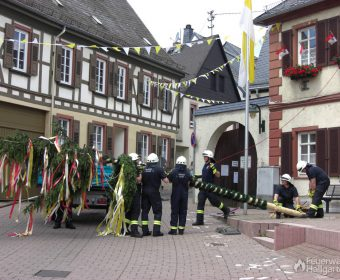 Seile ermöglichen die Unterstützung aus dem Rathaus heraus