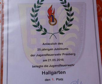 Wettkampf bei der Jugendfeuerwehr Presberg