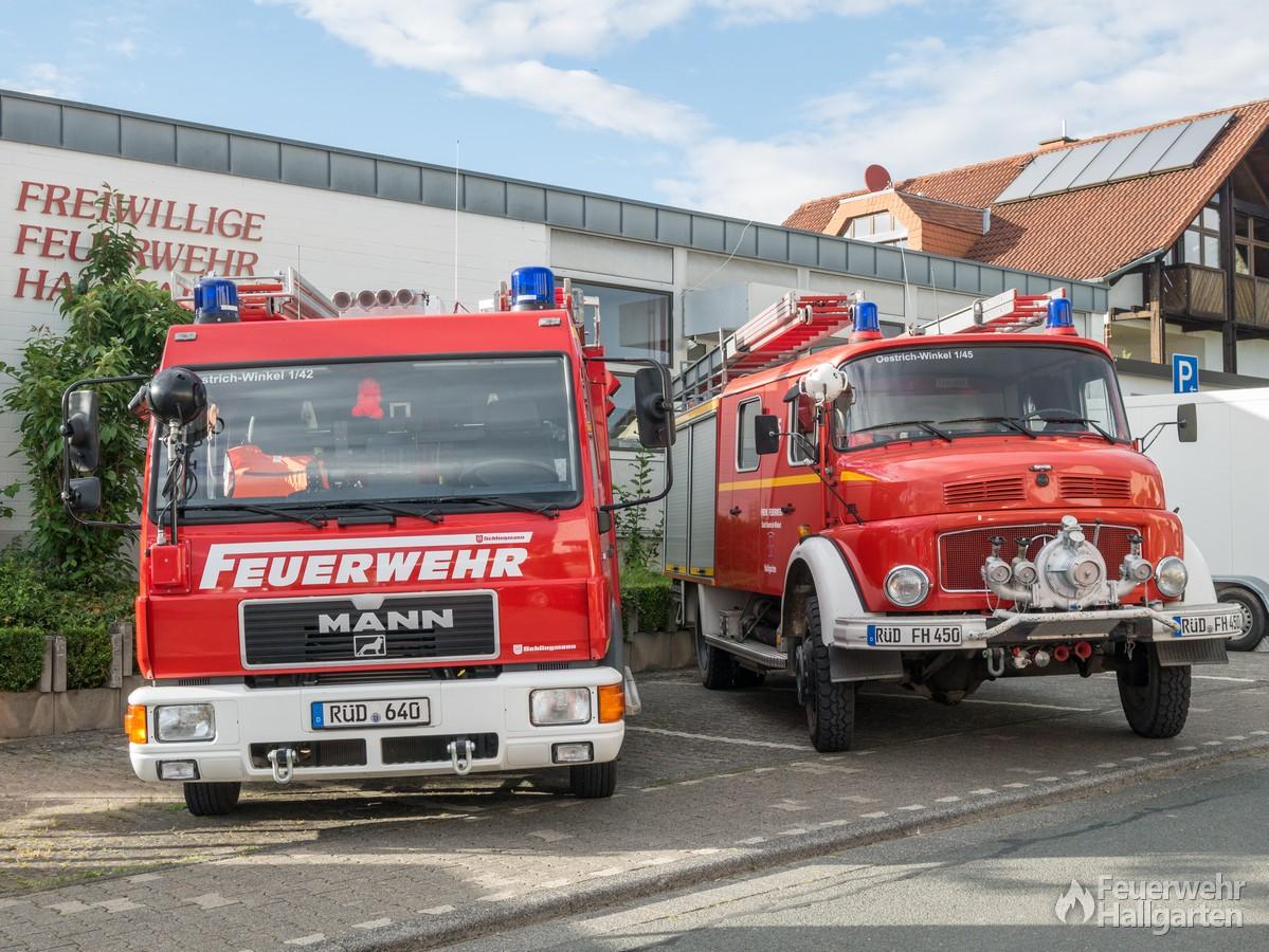 Löschfahrzeuge der Feuerwehr Hallgarten