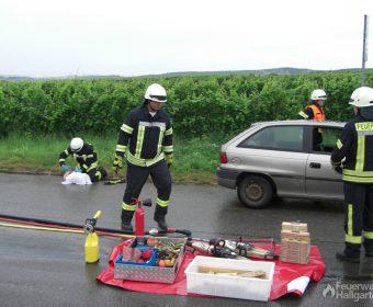 Geräte und Materialien in Bereitstellung auf dafür vorgesehener Plane