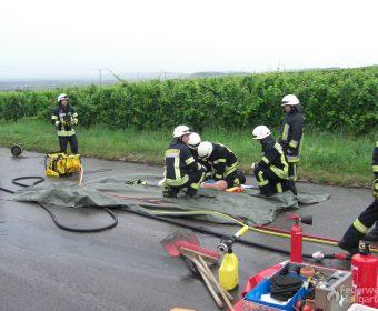 Bei der Reanimation wechseln sich die Feuerwehrleute ab, um stets wirkungsvoll arbeiten zu können