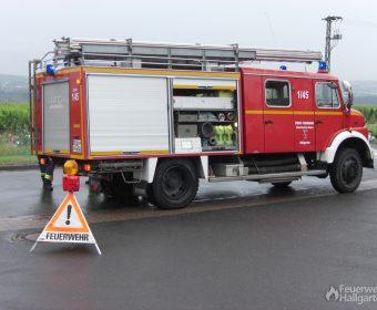 Das LF 16 sicherte die Unfallstelle ab