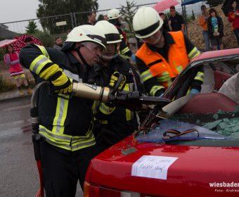 Rettungsschere im Einsatz