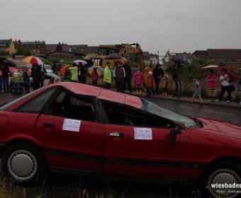Trotz Regen hatten sich zahlreiche Zuschauer eingefunden