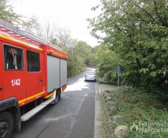 Dieselspur im Ort