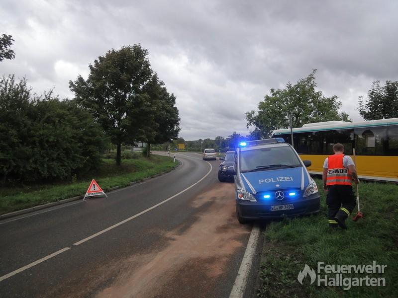 Dieselspur mit Polizei