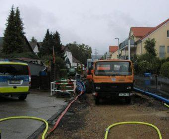 Baustelle beim Gasausdritt