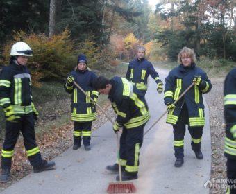 Team Feuerwehr Hallgarten bei der Arbeit