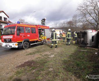 LF 8 Hallgarten im Einsatz bei Verkehrsunfall
