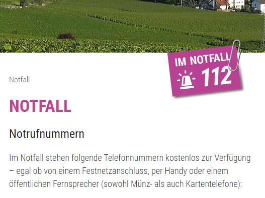 112 Notfall Button Screenshot