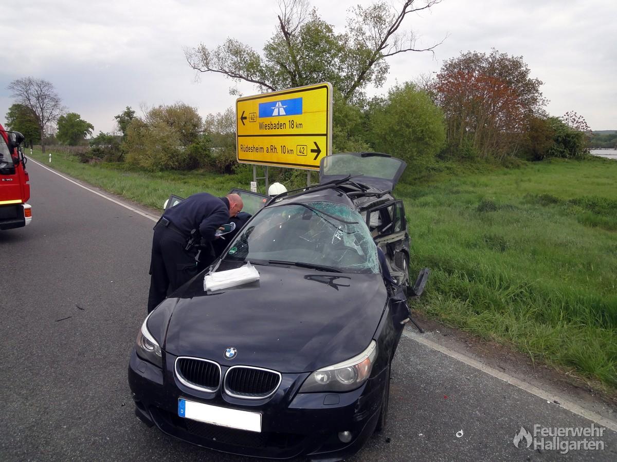 Der BMW nach der Befreiung der Person