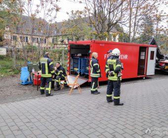 Abrollcontainer Atemschutz der Berufsfeuerwehr Wiesbaden