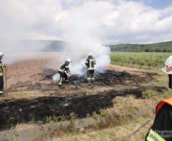 Auseinanderziehen des Brandguts