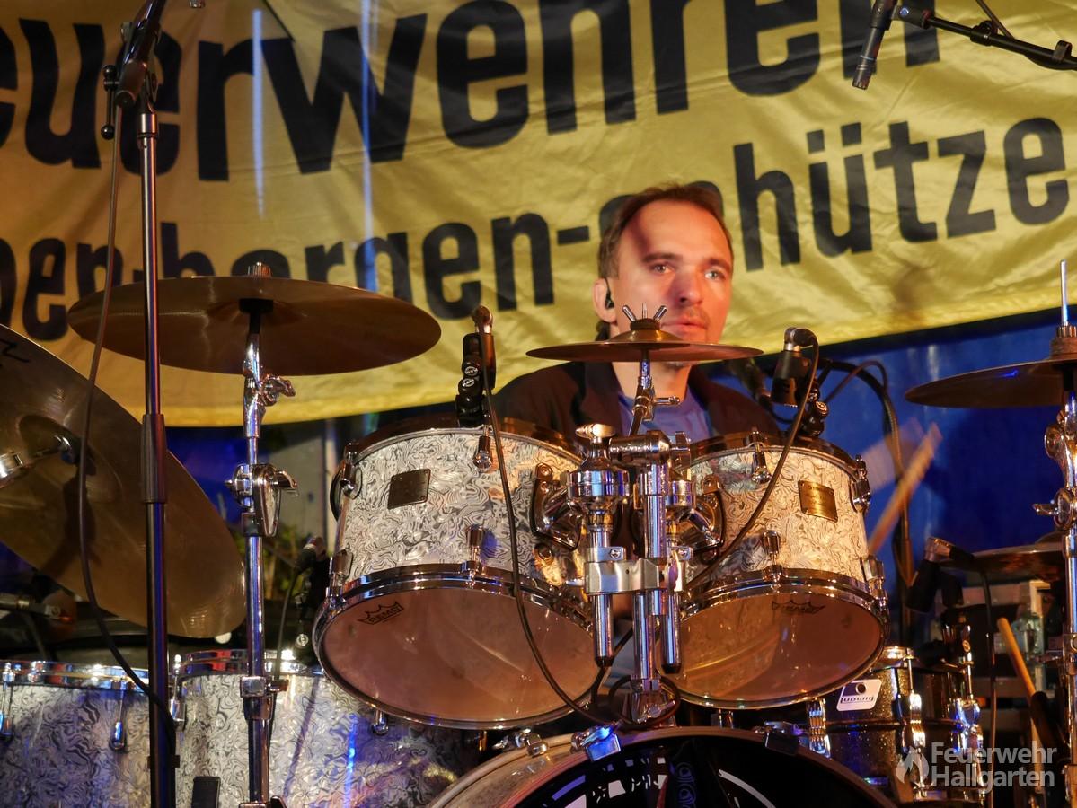 Schlagzeuger der Lieblingsband