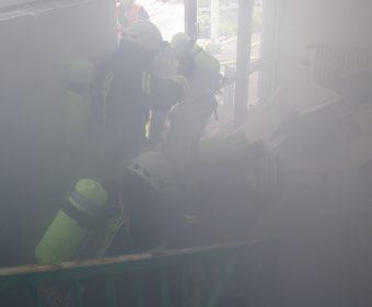 Rettungsmaßnahmen im Rauch