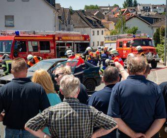 Schauübung Verkehrsunfall