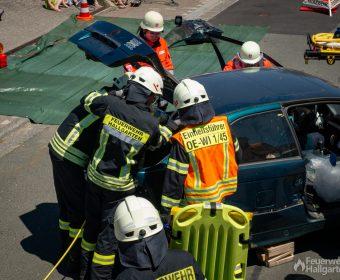 Arbeit mit der Rettungsschere