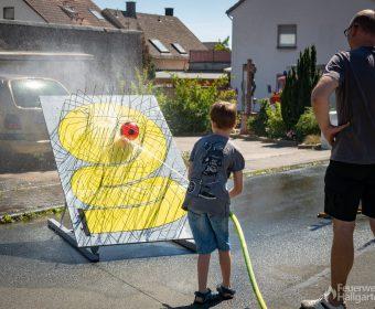 Wasserspiele mit der Jugendfeuerwehr