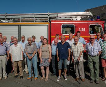 Gruppenfoto der Geehrten für langjährige Mitgliedschaft